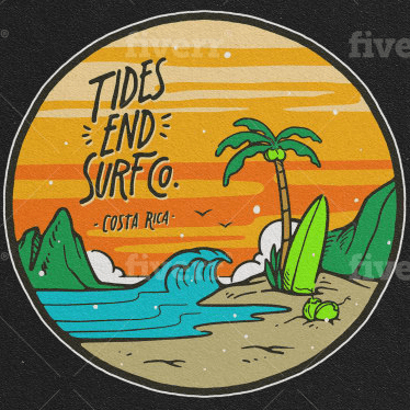 Vilnis logo - Tides End to Surf